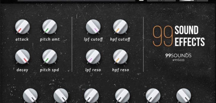 99 Sound Effects Is A FREE Sound Library By 99Sounds