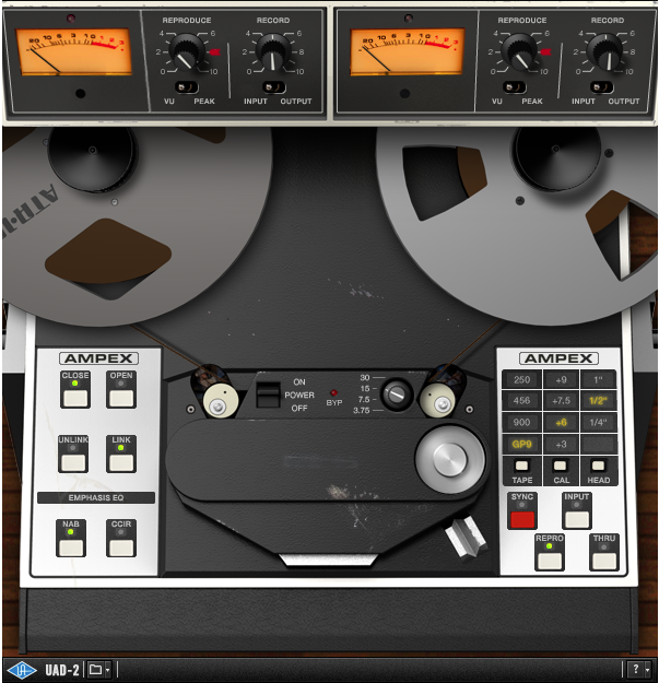 uad-2, ampex, tape emulation