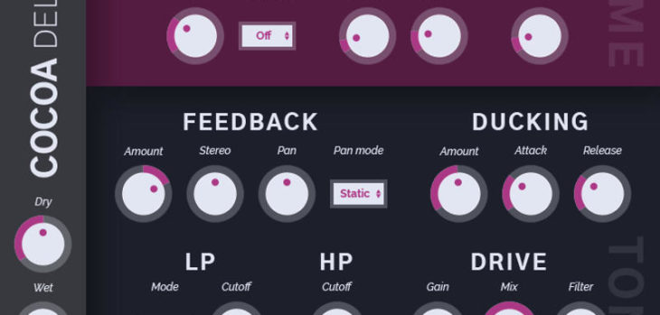 Free Cocoa Delay VST Plugin Released By Tesselode
