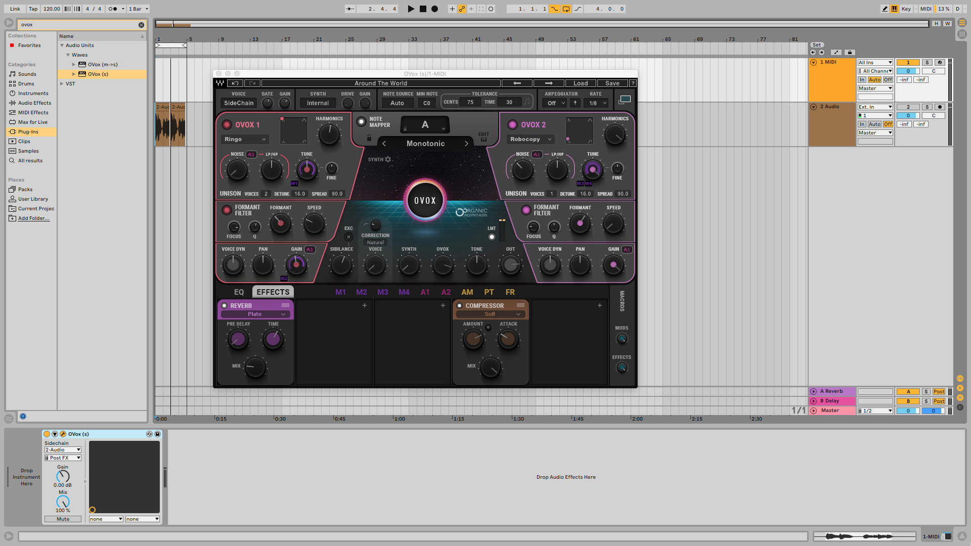 Creating A Daft Punk-Style Talk Box Effect With Waves OVox Vocal Resynthesis