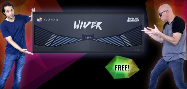 "Polyverse Music Releases Free ""Wider"" Stereo Widener VST/AU Plugin"